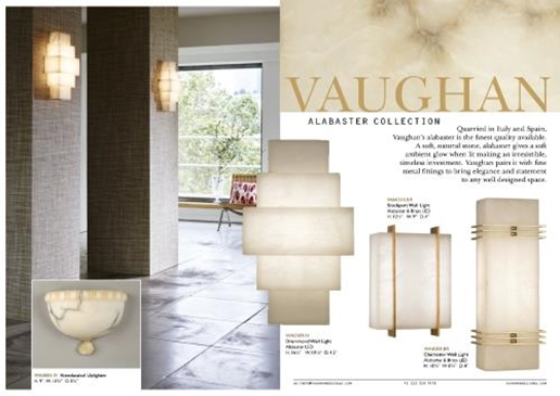 Фабрика Vaughan. Каталог 5428 alabaster collection 2017.